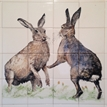 Boxing Hares Mural