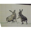 Boxing Hares with extra grass (2tiles)